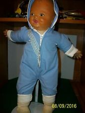Vintage Rubber and Cloth 18 inch Baby Boy Doll Unknown Maker