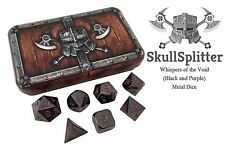 Black and Purple Color- Solid Metal Polyhedral Role Playing Game (RPG) Dice Set