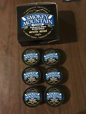 6 New Smokey Mountain Arctic Mint Pouches Chew. Herbal Snuff Free Shipping