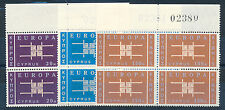 CYPRUS 1963 EUROPA SG234/236 BLOCKS OF 4 MNH