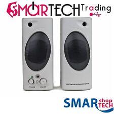 CASSE SPEAKER MULTIMEDIA BT-693 ALTOPARLANTI ATTIVI 2.0 PER PC TV MP3 SMARTPHONE