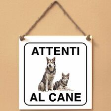 Cane lupo di Saarloos 4 Attenti al cane Targa piastrella cartello