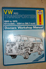 VW VOLKSWAGEN TRANSPORTER VAN 1600 HAYNES OWNERS WORKSHOP MANUAL 1968-1979