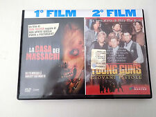 "DVD 2 FILM ""LA CASA DEI MASSACRI"" + ""YOUNG GUNS"" EDIZIONI MASTER  -  A8"