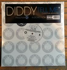 """Diddy + Christina Aguilera """"TELL ME"""" [12 inch vinyl] single SEALED 1990s 2000s"""