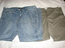 10 Lot 2 Ladies Blue Jeans Pants Slacks Olive Green Calvin Klein Banana Republic