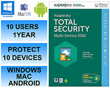 Kaspersky Total Internet Security 2016 Multi Device 10 Users 1 Year FFP DVD