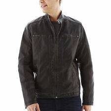 Levi's Faux-Leather Moto Jacket in Black -  Size Medium - NWT Men's