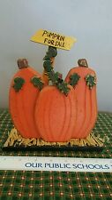 Primitive Wood Pumpkins For Sale Halloween Home Decor Fall Thanksgiving Autumn