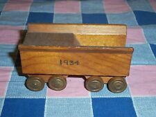 Older Wood Model Train Railroad Car 1934 About  1 7/8 Inch High