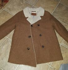 Janie&Jack boy WOOL brown pea coat 4t/5t