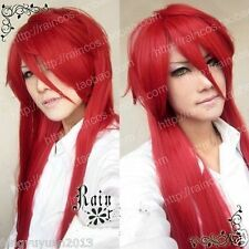 Black Butler Grell Sutcliff Red Long Straight Cosplay Wig + GIFT