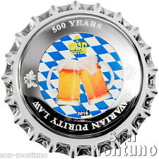 2016 Palau - BOTTLE CAP COIN - 500 Years Bavarian Purity Law 2.5g .999 Silver $1