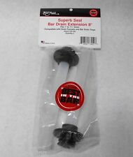 """(2X) BAR MAID Drain Extension 8"""" Overflow Pipe Stopper CR-700 Small 1"""" & 1-3/8"""""""