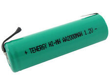 Tenergy AA 2000mAh NiMH Flat Top Rechargeable Battery (w/ Tabs)