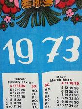 Kalender Handtuch 1973 Geburtstagsgeschenk Jubiläum TRUE VINTAGE   (KH24)