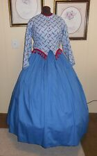 "Civil War/Victorian/Sass Ladies 2 Piece Day Dress (Bust 48"", Waist 40"") New"