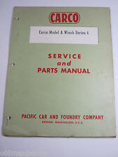 CARCO WINCH MODEL A SERIES 4 SERVICE & PARTS MANUAL