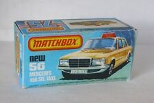 Repro Box Matchbox Superfast Nr.56 Mercedes 450 SEL Taxi