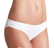 Ladies/Girls M & S Sze 18 Brazilian Knickers Panties Briefs Stretchy White