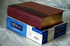 NIV Study Bible (Tan/Burgundy Italian Duo-Tone Imitation Leather) Compact, 2003