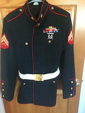 US MARINE CORPS USMC DRESS BLUES UNIFORM JACKET 44L -EXCELLENT CONDITION!