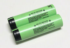 Two (2) Panasonic NCR18650B 3.7V 18650-3400mAh Rechargeable Batteries, US Seller