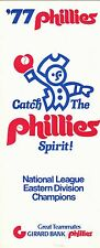1977 PHILADELPHIA PHILLIES SCHEDULE AND TICKET BROCHURE