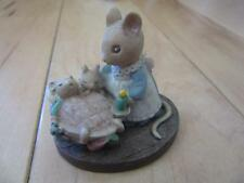 FOREST FRIENDS ALL TUCKED IN MOUSE FIGURINE MOTHER AND BABIES