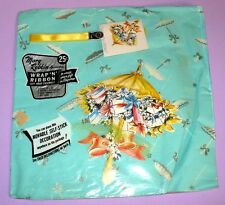 VINTAGE MARY ROBBINS SHOWER GIFT WRAP IN PACKAGE BONUS DECORATION TAG & RIBBON