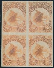 #WV12TC5 PLATE TRIAL COLOR ON WOVE PAPER; IMPERF BLOCK OF 4 BR6177