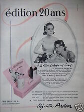 PUBLICITÉ 1960 ELIZABETH ARDEN ÉDITION 20 ANS LAIT LOTION - ADVERTISING