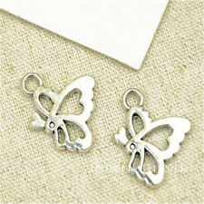 20pc Tibetan Silver butterfly Charm Beads Pendant accessories Findings PL622