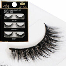 3 Pairs 3D Black Thick Cross False Eyelashes Makeup Long Fake Lashes Extension