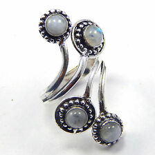 Amazing 925 Silver Plated Jewelry ! Rainbow Moonstone Cab Ring Jewelry Size 7 US