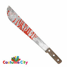 Adults Halloween Horror Bloody Slasher Machete Fancy Dress Costume Accessory