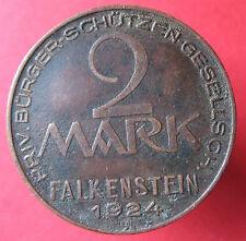 Old Rare Deutsche token -Falkenstain -Schutzen Gess. -2 Mk 1924 -mehr am ebay.pl