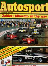 Autosport 3 May 1984 - Belgian Grand Prix Alboreto Ferrari, Donington Park ETCC