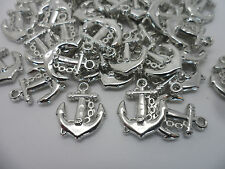 50 x Ships Anchor~Acrylic Charm Pendants/Beads for Jewellery, Scrapbook making