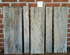"5 pc RECLAIMED WEATHERED OAK  BARN LUMBER WOOD  CRAFTING 3/4 "" THICK FREE SHIP"