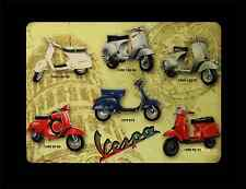 retro vespa metal sign