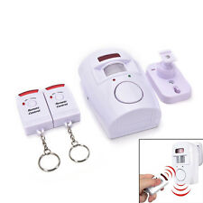 105dB Motion Sensor Detector Alarm Wireless IR Infrared Remote Home SecurityLAUS
