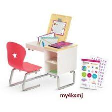 American Girl SCHOOL DESK Flip-top DESK SET for Doll + lots of play SHIPS TODAY