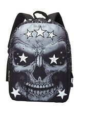 Mojo Skull Face Star Eyes Black Backpack NWT