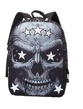 Mojo Skull Face Star Eyes Black Backpack NWT