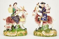 Pair of English Porcelain Figure Groups of the Welsh Tailor and His Wife Lot 410