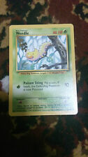 Weedle Pokemon Card COMMON [BASE SET]