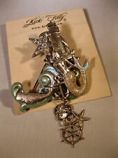 "KIRKS FOLLY RARE ""MERMAID/LIGHTHOUSE/WHALE BROOCH"" VERY GORGEOUS!"
