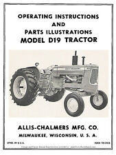 Allis Chalmers Model D19 Tractor Operators and Parts Manual TM-293B