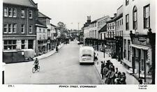 Ipswich Street Stowmarket (B) Bus Shop unused RP old postcard Frith